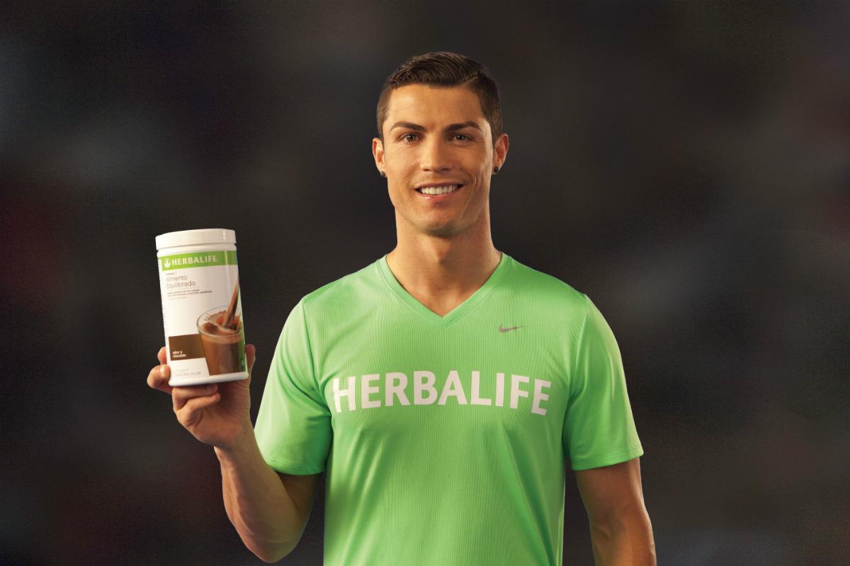 crsitiano ronaldo sponsor herbalife